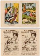 Dépliant 2 Images, Objets Cahcés, Berger Mouton Loup / Femme, Pipe / Pub Au Verso : Lotion Marie Rose - Vieux Papiers