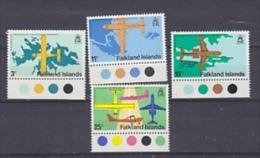 Falkland Islands 1979 Opening Of Stanley Airport 4v (traffic Lights In Margin) ** Mnh (FI1007) - Falklandeilanden