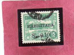 PERU´ 1951 HABILITADA SURCHARGE 0,10 ON CENT. 15  Archaeological MUSEUM LIMA MUSEO ARCHEOLOGICO USATO USED OBLITERE´ - Peru