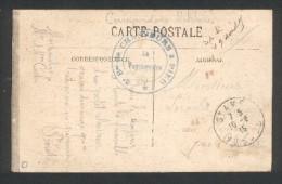 Guerre 1914 1918 Cachet Militaire 5ème Bataillon De Chasseurs à Pied Sur Carte De Beure (Besançon 1915) - Marcophilie (Lettres)