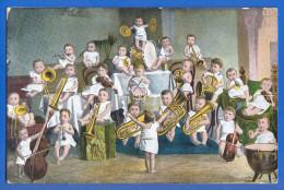Musik; Kinder Orchester; 1904 Stempel Bremen - Music And Musicians