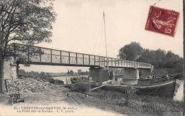 CHEFFES-sur-SARTHE - Le Pont - Bateau - Transport - Other Municipalities