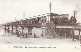 Bordeaux - La Passerelle De La Compagnie Du Midi - Train - Carte LL N°54 Non Circulée - Ouvrages D'Art