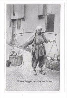 CHINESE BEGGAR CARRYING HER BABIES - Chine