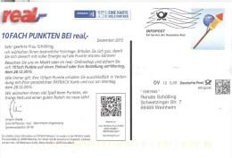 BRD Mannheim Infopost DV 0,28 € FRW 2015 Sylvester-Rakete Real Einkaufsmarkt - Covers