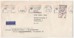 1965 Air Mail CZECHOSLOVAKIA COVER Ustav RADIO ENGINEERING And Electronics Co HANDBALL Stamps To Germany  Airmail Label - Czechoslovakia