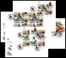 GUINEA 2015 - WWF Rynchops Flavirostris. Complete IMPERF. Set Of FDC - W.W.F.