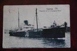 TAFNA , Paquebot De La Compagnie Mixte, Port De MARSEILLE - Steamers