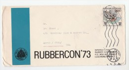 1972 CZECHOSLOVAKIA COVER From International RUBBER CONFERENCE  To GOODYEAR TYRES USA, Stamps - Czechoslovakia