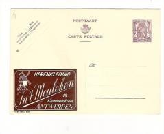 Publibel Neuve N° 829 ( Herenkleding  IN´T  MEULEKEN   Antwerpen) - Stamped Stationery