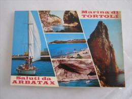 CA1 ARBATAX NUORO SARDEGNA VG. 1980 MARINA DI TORTOLI' SCOGLI BARCA A VELA OMBRELLONI VEDUTINE - Nuoro