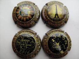 Série De 4 Capsules De Champagne MEILLEURS VOEUX 2016 - Autres