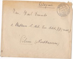 1940 Nimburg GERMANY FELDPOST COVER To Pilsen CZECHOSLOVAKIA Forces Military Stamps - Germany