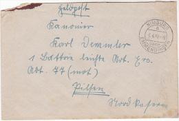 1940 Nimburg Emmendingen GERMANY FELDPOST COVER To Pilsen CZECHOSLOVAKIA Forces Military Stamps - Germany
