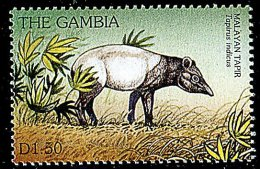 (cl. 3 - P.41) Gambie ** N° 2213R (ref. Michel Au Dos) - Tapir De Malaisie - - Gambie (1965-...)
