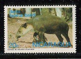(cl. 3 - P.41) Nicaragua ** N° 982 (ref. Michel Au Dos) - Tapir De Baird - - Nicaragua