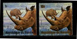 (cl. 3 - P.43)  Burundi Ob N° 648 - PA N° 371 (ref. Michel Au Dos) - Rhinocéros Blancs - - 1970-79: Neufs