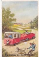 HEIST-GOEDENDAG-LEPORELLO-SYSTHEEM-KAART-CARAVAN-VERSTUURD-1960-ZIE 3 SCANS-TOP ! ! ! - Heist
