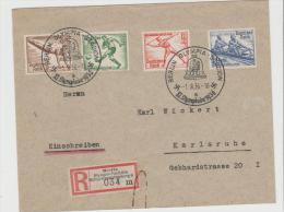 Oy172 / Berlin 1935, Einschreiben Mit Sonderstempel + Sonder-R-Zettel