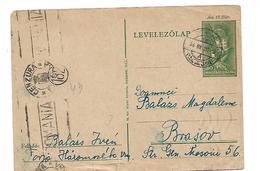 Ung240 / Torjo Nach Brasov 1944 Mit Num. Zensur