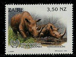 (cl. 3 - P.43) Zaïre ** N° 1398 (ref. Michel Au Dos) - Rhinocéros Blancs - - 1990-96: Neufs
