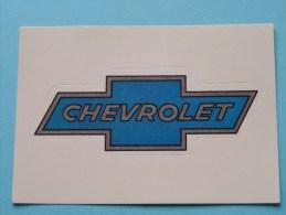 CHEVROLET Super AUTO ( 76 ) Ed. Panini Modena ( Zie Foto Voor Details ) ! - Panini