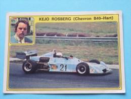 KEJO ROSBERG ( Chevron B40-Hart ) Super AUTO ( 34 ) Ed. Panini Modena ( Zie Foto Voor Details ) ! - Panini
