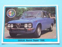 GIULIA Nuova Super 1600 () Super AUTO ( 50 ) Ed. Panini Modena ( Zie Foto Voor Details ) ! - Panini