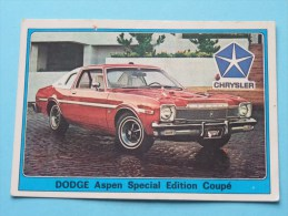DODGE Aspen Special Edition Coupé () Super AUTO ( 83 ) Ed. Panini Modena ( Zie Foto Voor Details ) ! - Panini