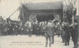Inauguration Du Monument Gambetta - Arrivée Du Président De La République à Bordeaux (Emile Loubet) - Inwijdingen