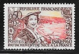 N° 1247   FRANCE - OBLITERE  -  NICOISE   -  1960 - Usados