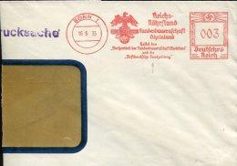 3062 Germany Reich, Red Meter Freistempel 1935 Bonn , Landesbauernschaft, Circuled Cover - Poststempel - Freistempel