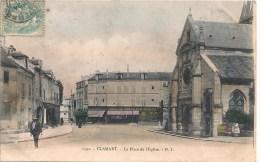 Cpa 92 Clamart Place De L'église - Clamart