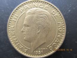 Rainier III Prince De Monaco, 20 FRS 1951, SUP - 1949-1956 Anciens Francs