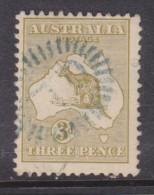 Australia: 1915, 3d Yellow-olive,  Used - 1913-48 Kangaroos