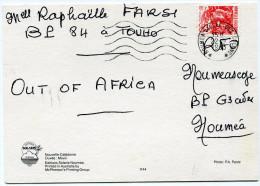 NOUVELLE-CALEDONIE CARTE POSTALE DEPART NOUMEA VALLEE- DES- COLONS 22-9-1993 POUR NOUMEA - Neukaledonien