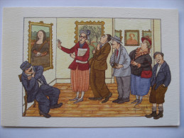 La Joconde Mona Lisa - Illustration Naive Huet Humeau - Illustrateurs & Photographes