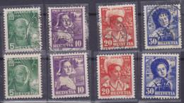 HELVETIA, 1936, Pro Juventute, N°298/301, Obli+**+*( 1524/85) - Gebraucht