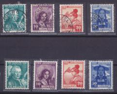 HELVETIA, 1938, Pro Juventute, N°316/319, Obli+**( 1524/87) - Gebraucht