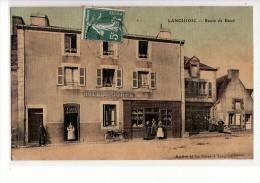 Languidic - Hotel Le Corre ,Route De Baud / Edition Mittler Et Le Corre, Carte Toilée - Sonstige Gemeinden