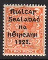 Ireland 1922 Harrison ´coil´ 2d Die II Rialtas SG29a, Hinged Mint - Nuovi
