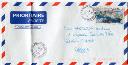 NOUVELLE-CALEDONIE LETTRE PAR AVION DEPART VALLEE-DES-COLONS-GA 13-2-2008 POUR LA FRANCE - Briefe U. Dokumente