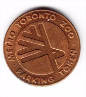 Metro Toronto Zoo Parking Token - Canada