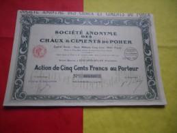 CHAUX ET CIMENTS DU POHER (riec Sur Belon-finistere) - Actions & Titres