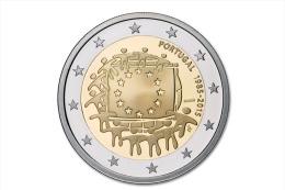 """PORTUGAL  2 € 2.015   2015   Bimetálica    SC/UNCirculated  """"30 Años De La Bandera De La U.E.""""  T-DL-11.432 - Portugal"""