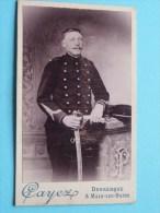 Soldaat - Soldier / Soldat () Sable ( Photo CDV CAYEZ Dunkerque Malo-les-Bains / Zie Foto Voor Details ) ! - Guerre, Militaire
