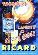"""Postcard - Poster Reproduction - Toujours L´apéritif L""""eau Ricard - Publicité"""
