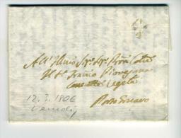 DE991-1806 VENETO Lettera Da VENEZIA+timbro De Periodo - Italien
