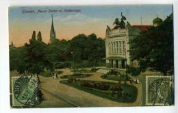 DE994-AK GIESSEN-1921-NEUSE TEATER M.SÜDANLAGE-Gel. - Giessen