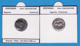 HISPANIA  ARSE (SAGUNTO)  VALENCIA  Dracma-Plata SC/UNC  Réplica  T-DL-11.372 - Roman